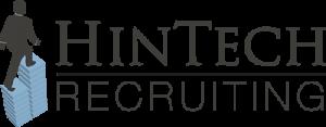HineTech-Logo of salesperson walking up graph